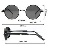 New 2014 STEAMPUNK Coating Sunglasses Men Vintage Brand Sport Glasses Retro Mirror Sunglasses Women Fashion Crazy Shades Girls