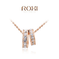 ROXI brand fashion rose gold plated double pendant necklaces for women, Fashion Gold Jewelry, 2030413425b