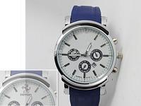 Drop shipping 2014 new brand men's military PU silicone sports watch, Big dial quartz  calendar watch