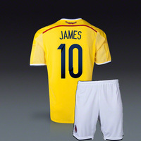 #10 JAMES Colombia home Jersey 2014 World Cup Colombia home jersey+shorts Mix Orders