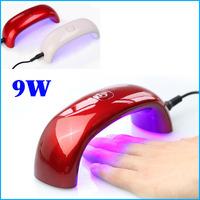 Professional LED UV Gel Nail Polish Dryer Tools 9W UV Curling Lamp Light for Nail Art