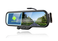 2014 New arrival LS600B Android 5 Inch Full HD720P Bluetooth Rearview Mirror Car DVR with GPS Navigation+Built-in 8GB Dropship