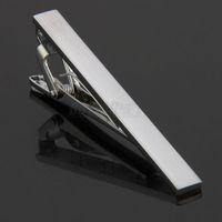 Details about Men Metal Necktie Tie Bar Clasp Clip Clamp Silver Tone Simple Formal Dress Shirt