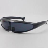 2014 NEW COLORS Fashion Sunglasses mono lens Mirror Fashion Sunnies Shades Futuristic Novelty  party glasses High Quality