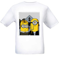High Quality Despicable Me T-shirt top lycra cotton t-shirt Fashion american gothic t-shirt free shipping