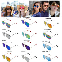 Hot Sale 2014 New Fashion coating sunglass Frog Mirror Sunglasse Arrival Men Women Loved Unisex Sunglasses 12 Color 10pcs/ 5%off