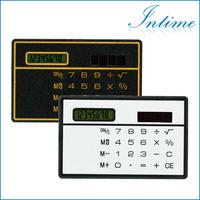 Free Shipping Mini Slim Credit Card Solar Power Pocket Calculator For a Gift
