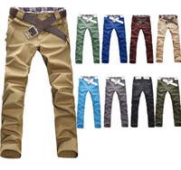 P826 Mens Slim Fit Skinny Stretch Pencil Jeans Trousers Casual Pants 10 Colors
