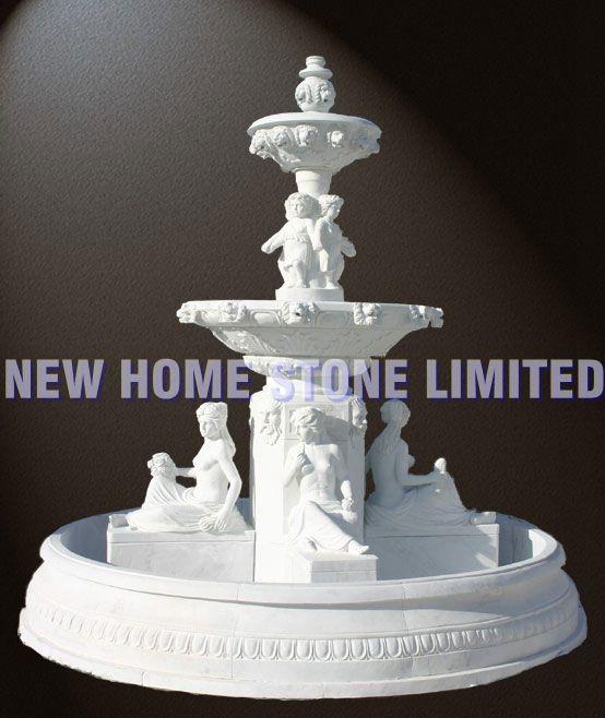 escultura do jardim estátuas figura ornamento fontes de mármore italiano(China (Mainland))