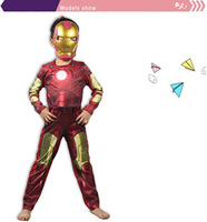 2014 Halloween Kids Carnival Kids Iron Man Suit Cosplay Costume All For Children Clothing And Accessories