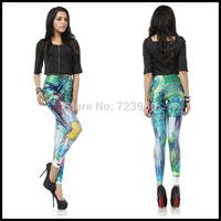 Cat cartoon print elastic legging pants fashion women's pants free shipping  welcome wholesale beauty leggings