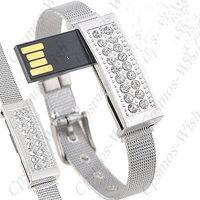 Bracelet Style 4GB/8GB/16GB/32GB USB 2.0 Flash Drive U Disk with Rhinestones/4G