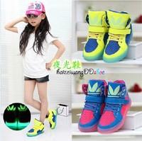 Male child single shoes luminous shoes shampooers high skateboarding shoes female child 2014 child casual