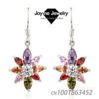 Joyme Brand New fashion AAA quality Cubic Zircon Dangle Earrings Female Jewelry Drop earrings