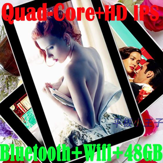 Rétine tablette. quad core 10 pouces android bluetooth comprimé 1024x800 64gb flash. wifi, hdmi. 3g externe prise mini usb 32gb carte tf