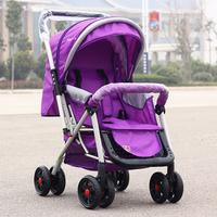 Baby stroller four trolley buggiest car umbrella light folding ultra wide two-way