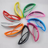 2014 NEW COLORS Fashion Sports Sunglasses mono lens Mirror Fashion Sunnies Shades Futuristic Novelty  party glasses High Quality