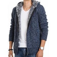 New 2014 Men's winter sweater size M-XXL hooded knit casual coat sweatshirts