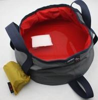 Free shipping+2014hot selling+New outdoor folding washbasin+Ultralight camping portable water basin gram packs