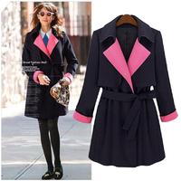 2014 autumn and winter new European and American fashion lace windbreaker jacket coat winter jacket women Blaze XL