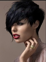 Custom Top Quality Natural Soft Cheap Short Pixie Hair Cut Synthetic Wig (Free Shipping)
