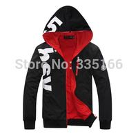 Free Shipping Men Hoodies With Long Zipper Black M--5XL Plus Size, Comfortable Man Casual Hoody Spring&Autumn Hoodie #JM09548