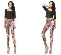 2014 Hot Sale New High Quality Novelty Womens Leggings Printed Leggings Pants for Girls European and American Style