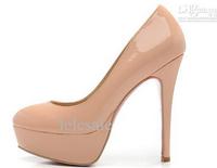 2014 New  Almond-Toe Platform Coat of paint Woman Shoes Fashion ladies high heels platform pumps