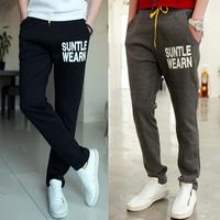 2014 new Autumn Cotton Mens Joggers Trousers Men Harem Pants Hip Hop Men's Fitness Sports Pants Baggy academia Calca Masculina