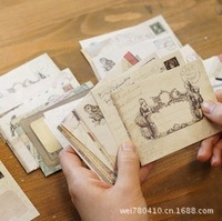 Free shipping 1Lot=48piece DIY Scrapbooking Paper Envelopes Vintage Mini Envelope Color Envelopes