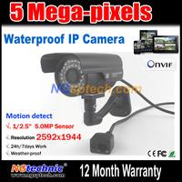 5Megapixel(2592x1920) IR Night Vision Waterproof IP Camera 1920P Full HD H.264 Onvif motion detection free shipping