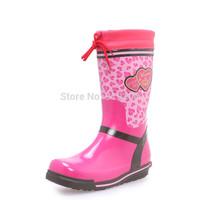 Brand New 2014 Children's Fashion Mixed Colors Rubber Rain Boots Boys Girls Waterproof Rainboots Kids Water Shoes Wellies #TS65