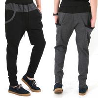 2014 new autumn mens sport pants hip hop dance fashion harem pants men drop crotch pants men baggy sweatpants calca moletom man