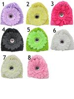 2014 new fashion children accessories Korean baby girls hair accessories kids ribbon cap hat headdress large flower hair styling