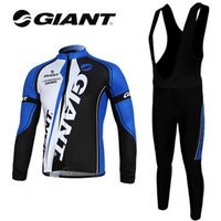 2012 GIANT Winter Thermal Long Sleeve Cycling Jersey Thermal Cycling Bib Pants Winter Cycling Clothing Size:S-XXXL Free Shipping