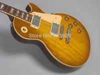 LP Electric Guitar,  Plain Top,Honey Sunburst, OEM Accepted
