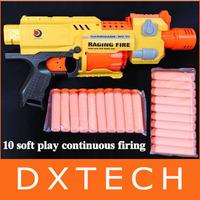 New RAGING FIRE Semi-auto Soft Bullet Blaster Nerf Gun 20 Dart Toy AGE 6