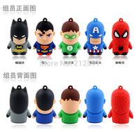 Free shipping 2014 Avengers Spiderman Batman Green Lantern Superman Captain American USB flash drive pendrive