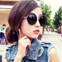 New 2014 Korean Vintage Sunglasses Lovely Big Round Glasses Cricle Frame Sun Glasses Free Shipping #B-134