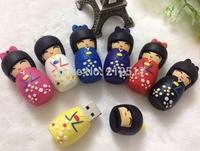 Free shipping Gift Japanese dolly Cherry Blossom Girl USB flash drive Sakura Girl pen drive