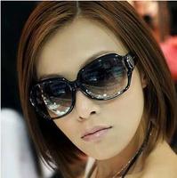 New arrive 2014 fashion female sun glasses UV sunglasses large frame eyeglasses yurt wholesale and Free Shipping #B-33