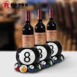 European resin wine holder wine rack creative black billiard ball on the 8th wine rack wine good fortune at Tottenham(China (Mainland))
