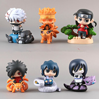 Free shipping new arrival 6cm 6 pcs/lot  NARUTO  Shippuden Anime  action figures PVC material