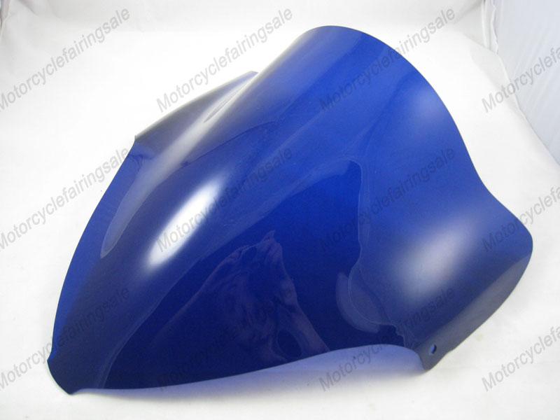 2008 2012 09 10 pour suzuki hayabusa gsxr 1300 double bulle pare brise/pare brise- bleu