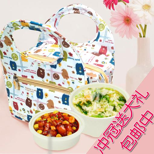 2014 portátil térmica com isolamento térmico almoço bag for food mulher kids sacola com zíper saco térmico isolamento lancheira(China (Mainland))