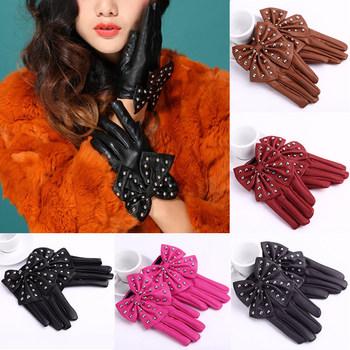 Stylish 2014 High-Street Elegant Женщины Gloves Soft Кожа PU является высокотехнологичным ...
