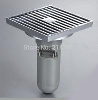 Bathroom toilet floor drain odor floor drain copper chrome square size 100 * 100cm