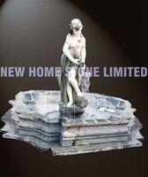 new home stone backyard female statue fountain sculpture garden