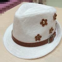 2014 The New Style Autum Winter Men&Women Knight Woolen Hat   Crystal velvet Hat Retro Topper Free Shipping