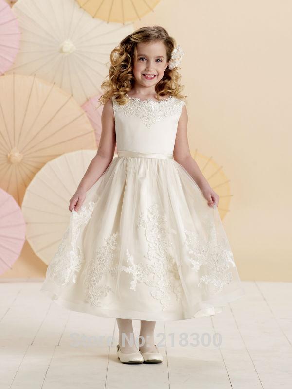 Aliexpress.com : Buy Gorgous Pleating Tiered First Communion Dress ...
